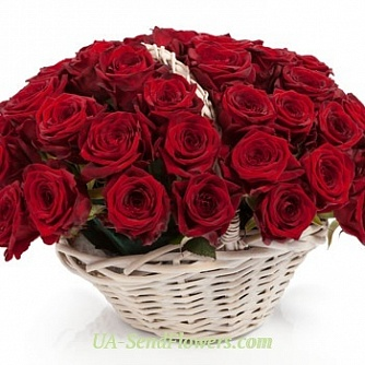 Buy Cart Red roses cheap with delivery to Kiev and Ukraine