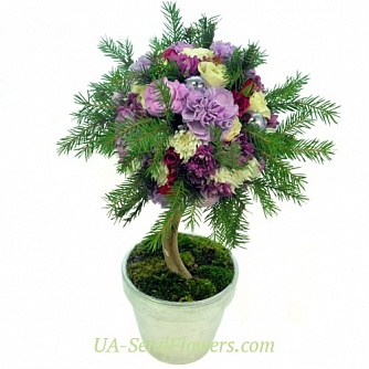 Buy New Year composition Forest Princess cheap with delivery to Kiev and Ukraine