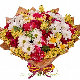 Buy Bouquet Summer mood cheap with delivery to Kiev and Ukraine