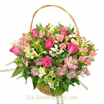 Buy Flowers Cart A gentle kiss cheap with delivery to Kiev and Ukraine
