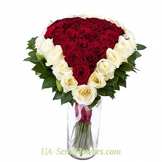 Buy Bouquet Loving heart cheap with delivery to Kiev and Ukraine