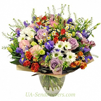 Buy Bouquet Spring union cheap with delivery to Kiev and Ukraine