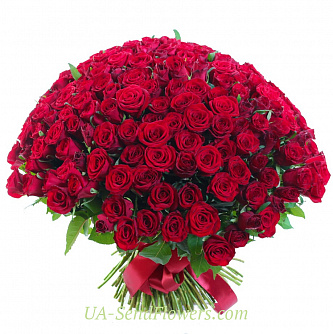 Buy Bouquet of 151 red rose cheap with delivery to Kiev and Ukraine