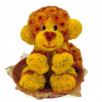 Buy Toy of the monkey flower cheap with delivery to Kiev and Ukraine