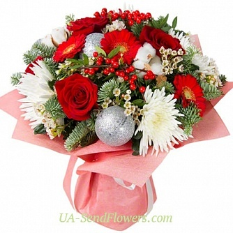 Buy Bouquet Christmas delight cheap with delivery to Kiev and Ukraine