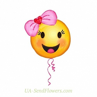 Buy Balloons Happy smiley girl cheap with delivery to Kiev and Ukraine