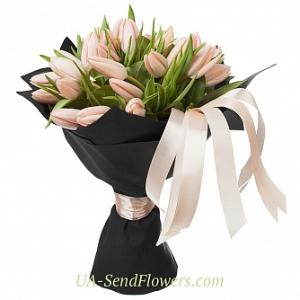 Buy Bouquet 31 tulip (Tayts Boots) cheap with delivery to Kiev and Ukraine