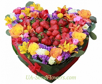 Buy Flower arrangement Paradise pleasure cheap with delivery to Kiev and Ukraine