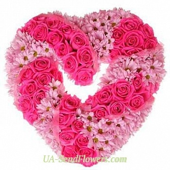 Buy Arrangement of colors of hearts Compound cheap with delivery to Kiev and Ukraine