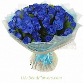 Bouquet of 51 blue rose