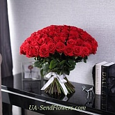 Bouquet of 101 red roses Freedom