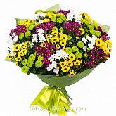 Bouquet of 51 multi-colored chrysanthemum