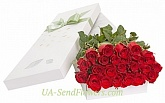 23 red roses in a box