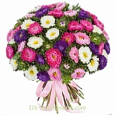 Bouquet of flowers Colored asters