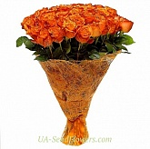 Bouquet of 51 orange roses