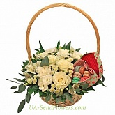 Basket of flowers Sweetness feelings