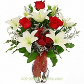 Bouquet of Red and White