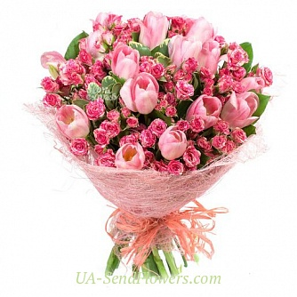 Buy Bouquet Romantic cheap with delivery to Kiev and Ukraine