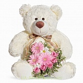 Toy Teddy Bear with flowers