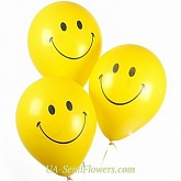 Three balloons smiley