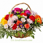 Basket of flowers Luxury holiday