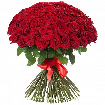 Buy Bouquet of 101 red roses cheap with delivery to Kiev and Ukraine
