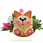Toy of fluff flowers