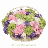 Basket of flowers Bright gift